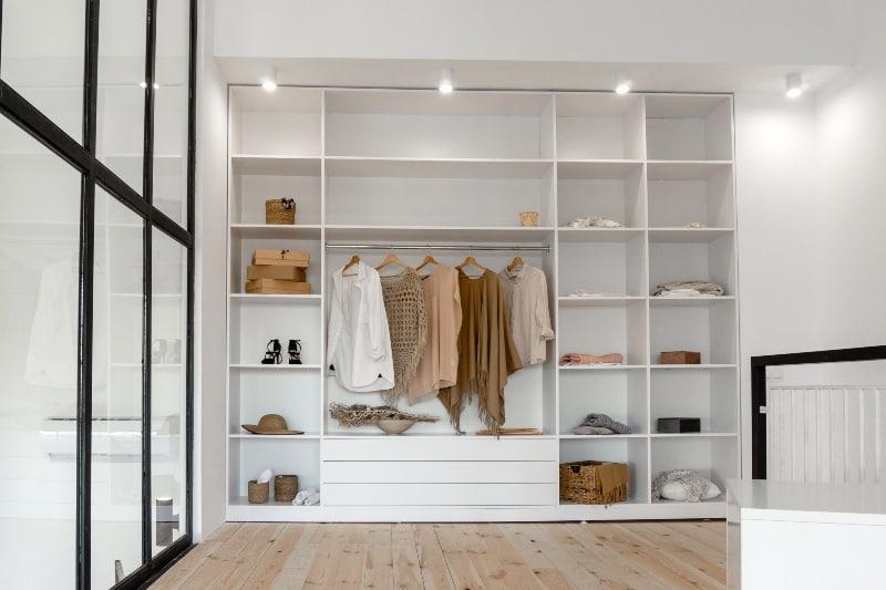 wardrobe open plan