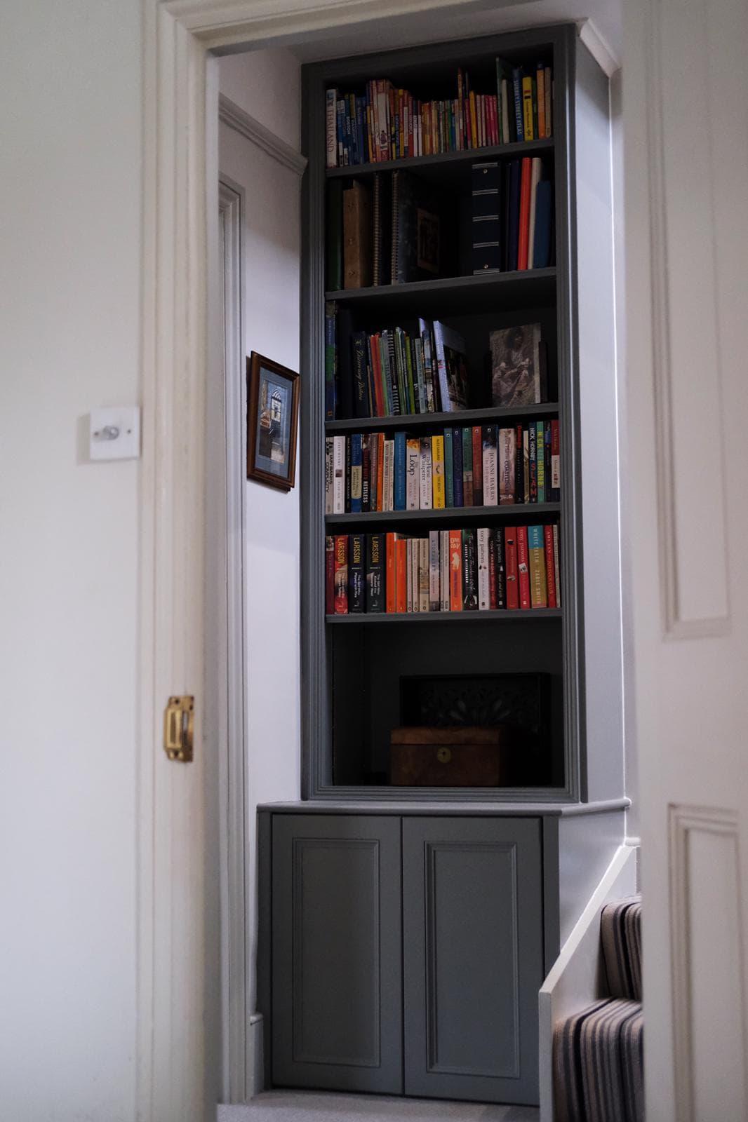 bespoke corner shelf